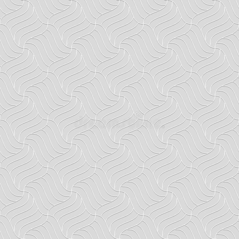 Bezszwowy wzór faliste linie tła pasiasty geometryczny ilustracja wektor