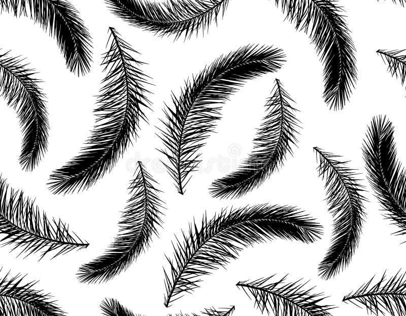 Bezszwowy wzór gałąź drzewko palmowe sylwetka r?wnie? zwr?ci? corel ilustracji wektora royalty ilustracja