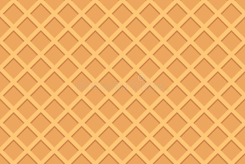Bezszwowy wzór gofr royalty ilustracja