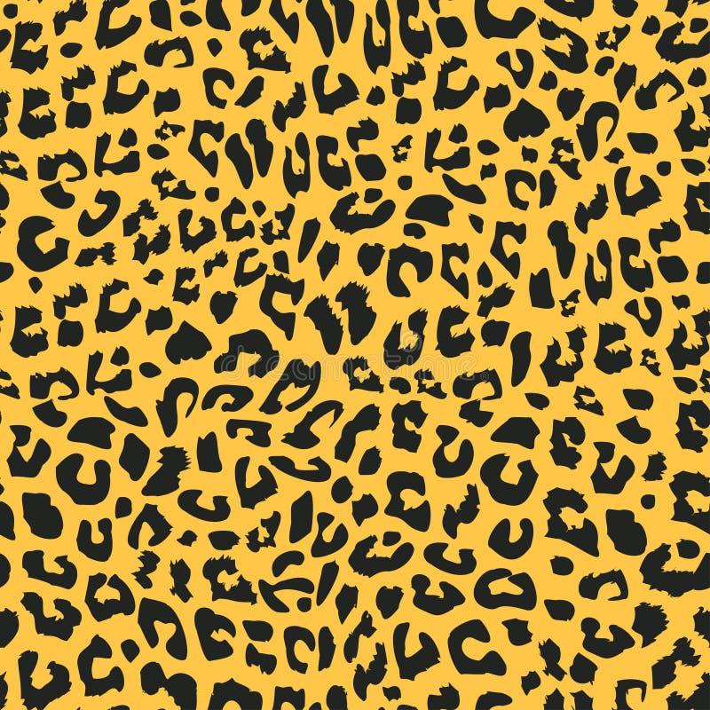 Bezszwowy wzór jaguara lub lamparta Realistyczna ilustracja tła skóry zwierząt tekstylia futerkowe gotowe do druku ilustracja wektor
