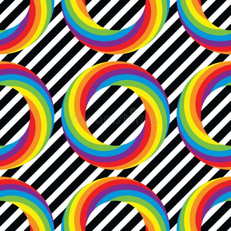 Bezszwowy wzór kolorowi round koło okręgi royalty ilustracja