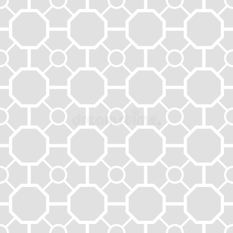 Bezszwowy wzór krzyże i rhombuses geometryczny tło ilustracji