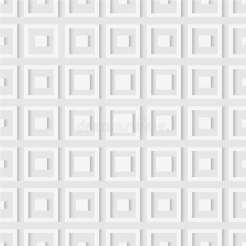 Bezszwowy wzór kwadraty geometryczna tapeta miękkie tło ilustracja wektor