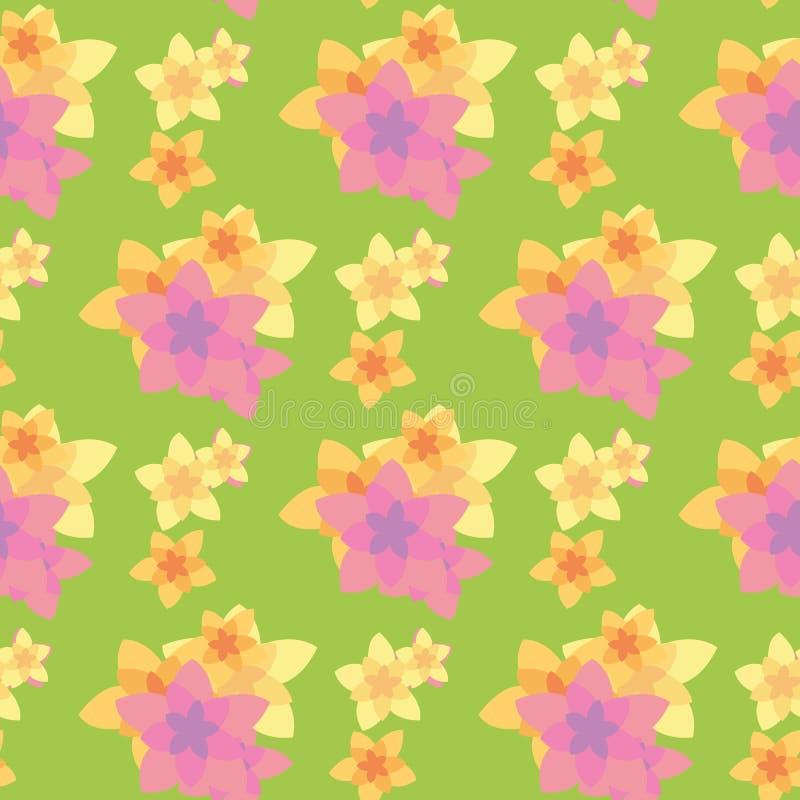 Bezszwowy wzór kwiat royalty ilustracja