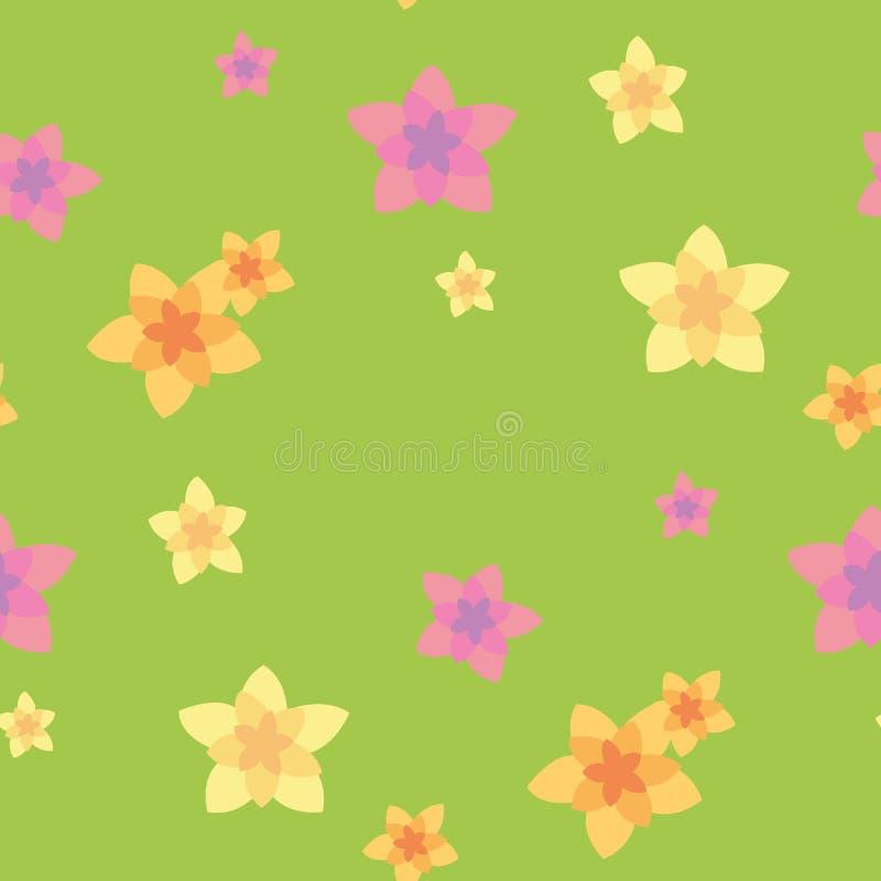 Bezszwowy wzór kwiat ilustracja wektor