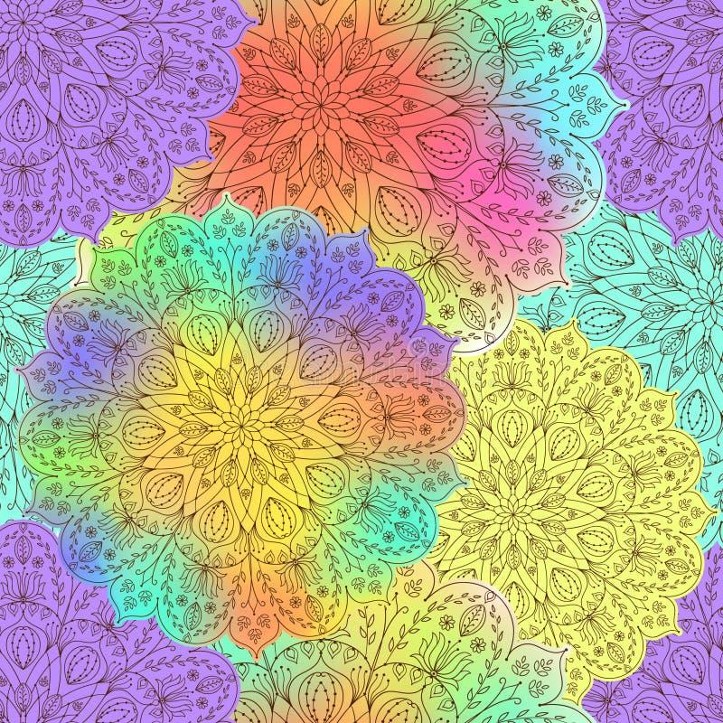 Bezszwowy wzór mandala royalty ilustracja