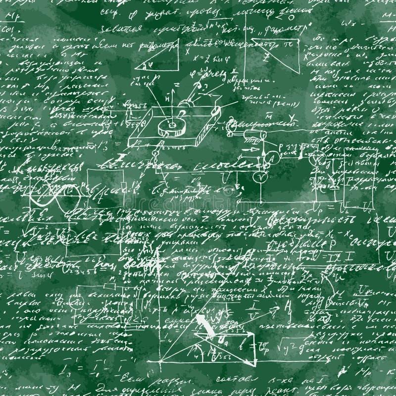 Bezszwowy wzór matematycznie operacja i equatio ilustracji