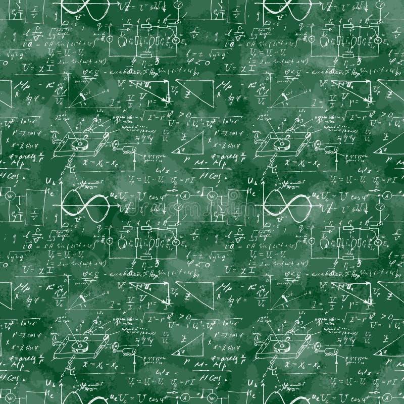 Bezszwowy wzór matematycznie operacja i równanie ilustracja wektor
