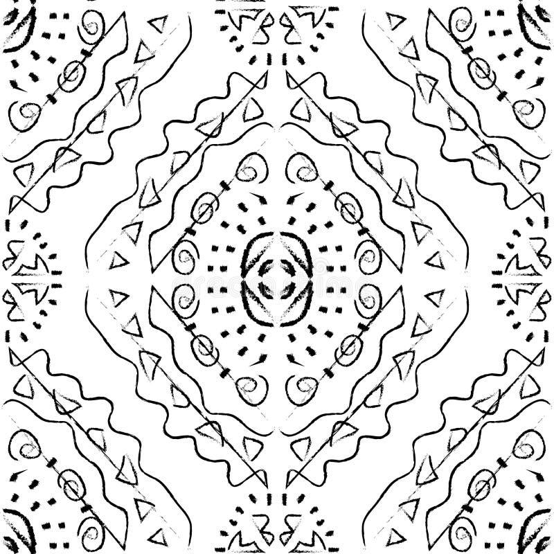 Bezszwowy wzór - monochrom obraz royalty free