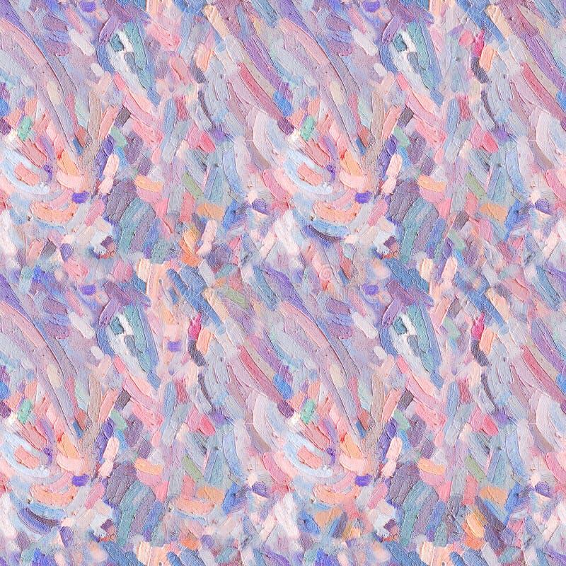 Bezszwowy wzór nafcianej farby pluśnięcie Coloured nafcianej farby uderzenia ilustracji