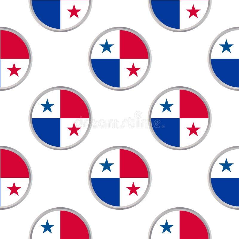 Bezszwowy wzór od okregów z flaga republika Panam ilustracja wektor