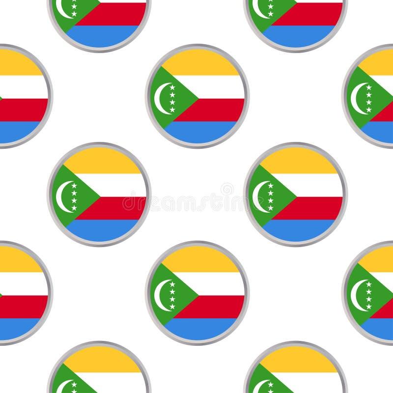 Bezszwowy wzór od okregów z flaga zjednoczenie Como ilustracja wektor