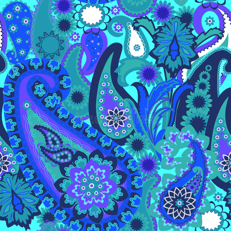 Bezszwowy wzór. Paisley Kolorowy tło. royalty ilustracja