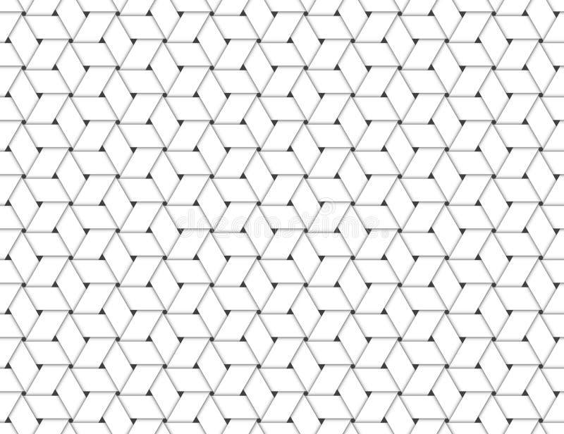 Bezszwowy wzór Plosący papier Paskuje biel royalty ilustracja