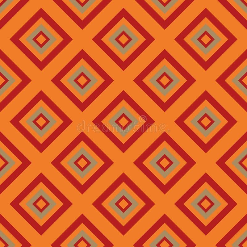 Bezszwowy wzór - pomarańczowi rombs zdjęcie royalty free