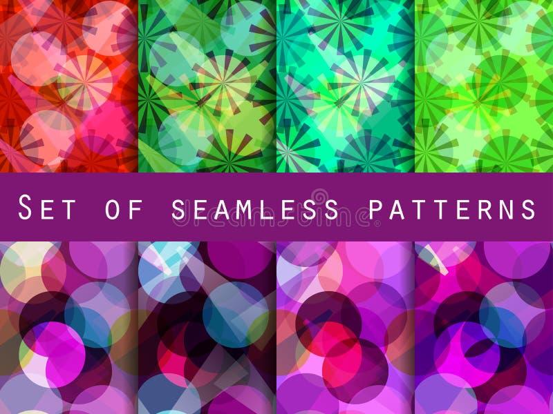 Bezszwowy wzór przejrzyści geometryczni kształty ilustracja wektor