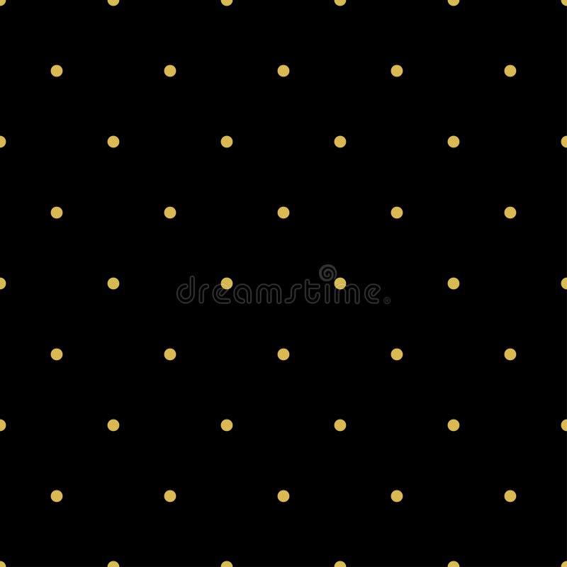 Bezszwowy wzór przypadkowe złote kropki na czarnym tle Elegancki wzór dla tła, tkanina i inny, projektujemy ilustracji