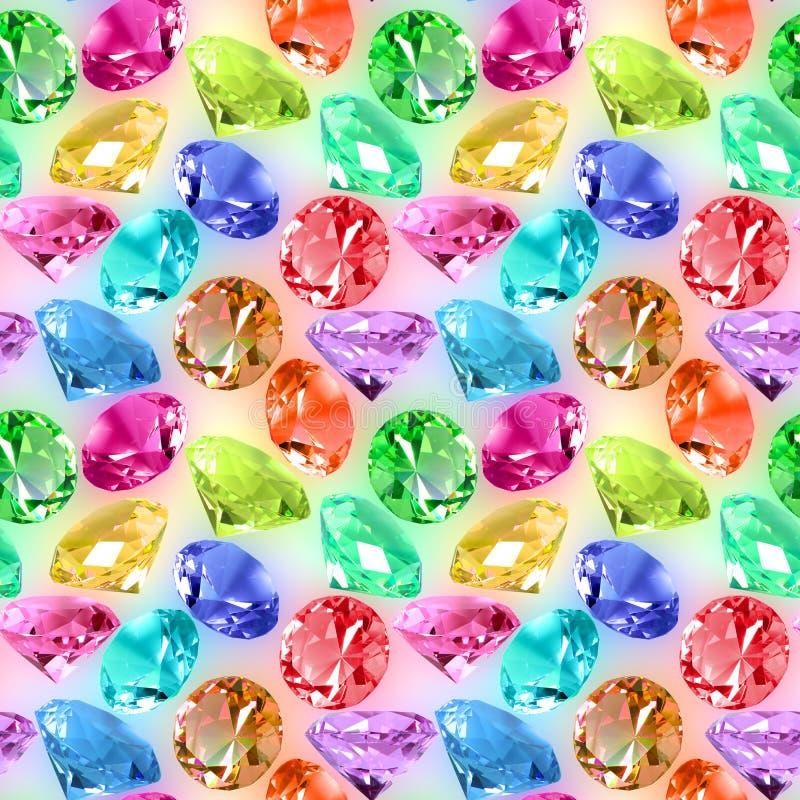 Bezszwowy wzór pstrobarwni kryształy obrazy stock