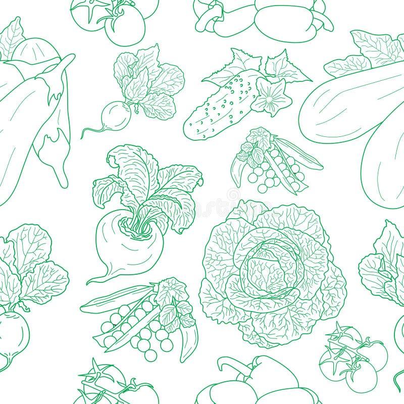 Bezszwowy wzór różnorodni doodles royalty ilustracja