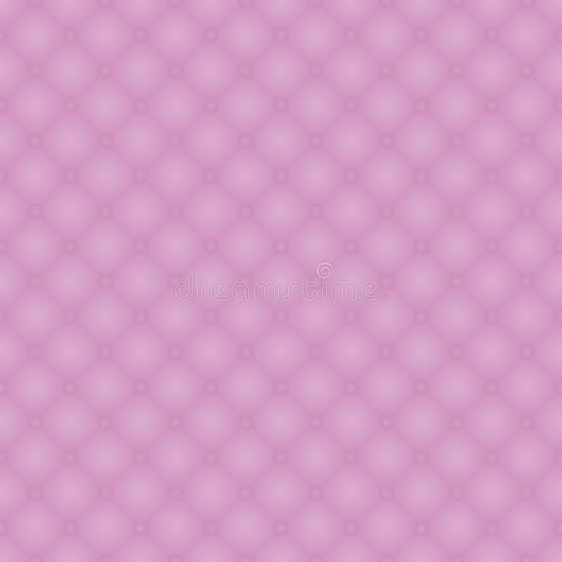 Bezszwowy wzór różowa realistyczna tapicerowanie skóry tekstura Luksusowy królewski tło z elementami zapina kiciastego ilustracji