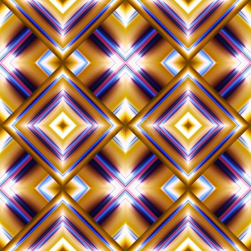 bezszwowy wzór rhombuses royalty ilustracja