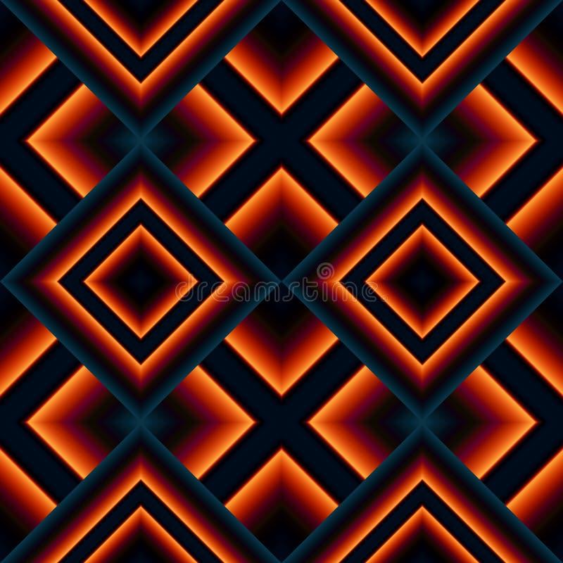 bezszwowy wzór rhombuses ilustracja wektor