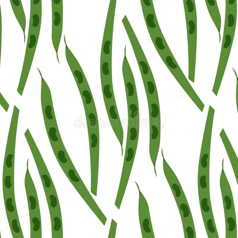 Bezszwowy wzór strąki grochy royalty ilustracja