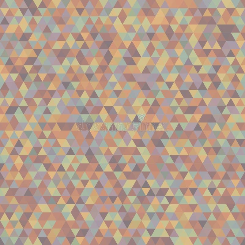 Bezszwowy wzór Symmetric trójboki dla pokryw, szablony, W ilustracji