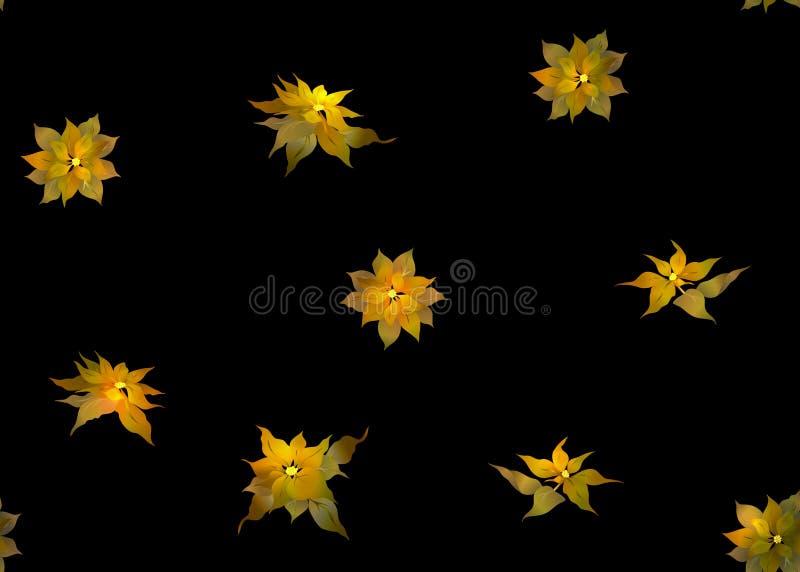 Bezszwowy wzór, tło z Poincetti kwiatami ilustracji