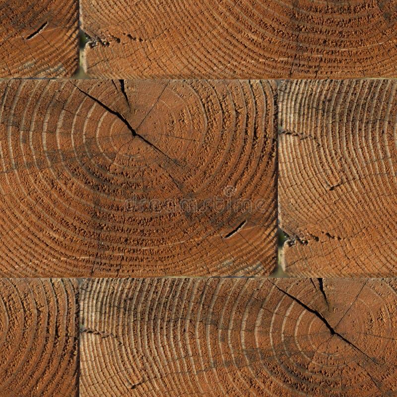 Bezszwowy wzór textured drewniana ściana z cegieł z podpasaniem fotografia stock