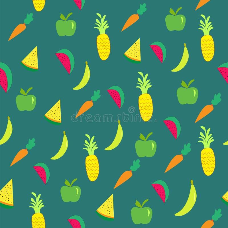 Bezszwowy wzór tropikalne owoc zdjęcia stock