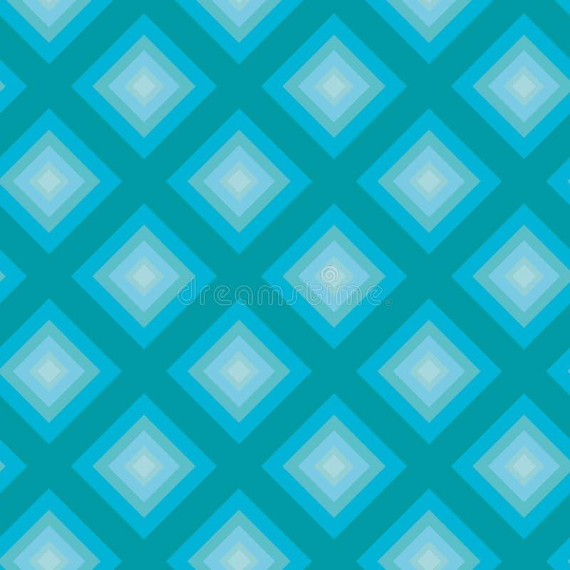 Bezszwowy wzór - Turkusowi rombs zdjęcie stock
