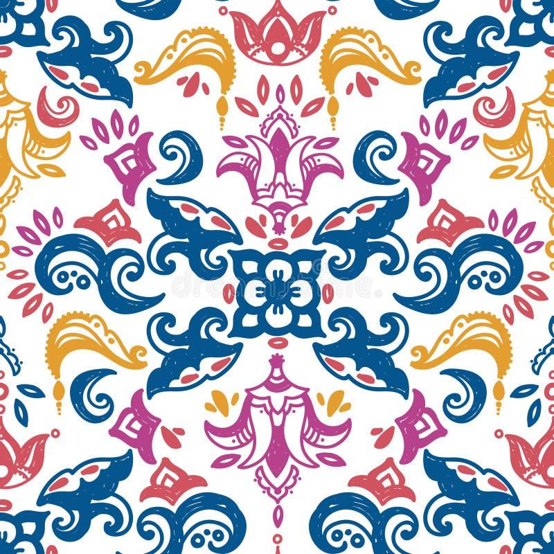Bezszwowy wzór w śródziemnomorskim stylu royalty ilustracja