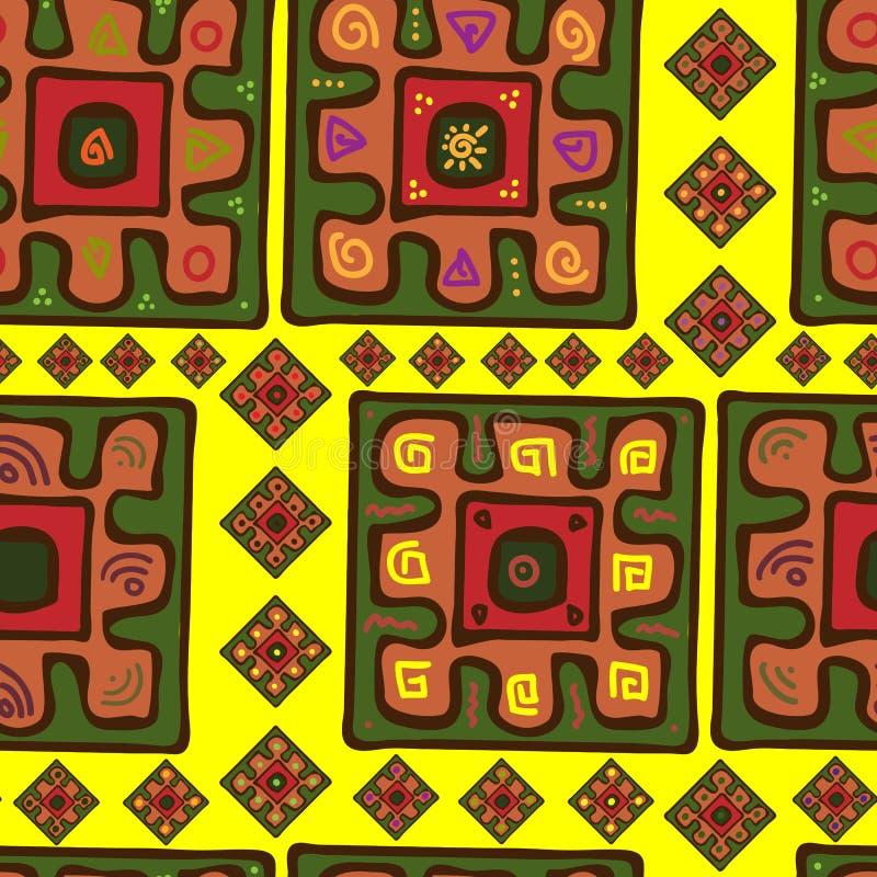 Bezszwowy wzór w afrykanina stylu ilustracji