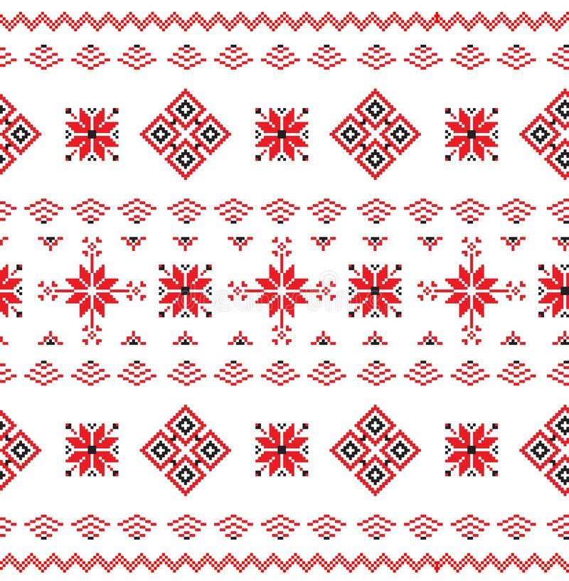 Bezszwowy wzór w Belarusian stylu royalty ilustracja