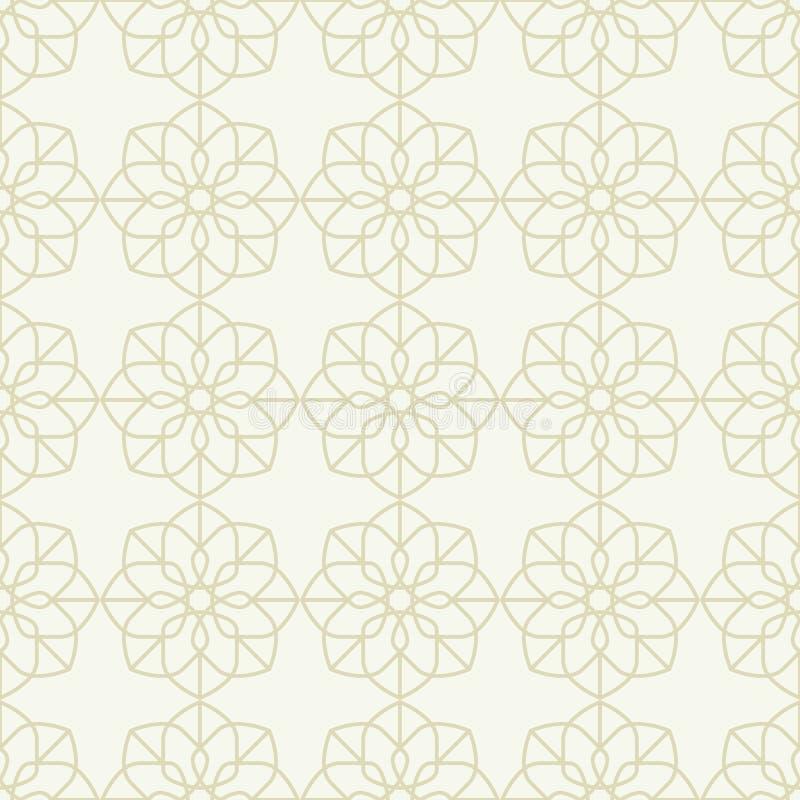 Bezszwowy wzór w islamskim stylu ilustracja wektor