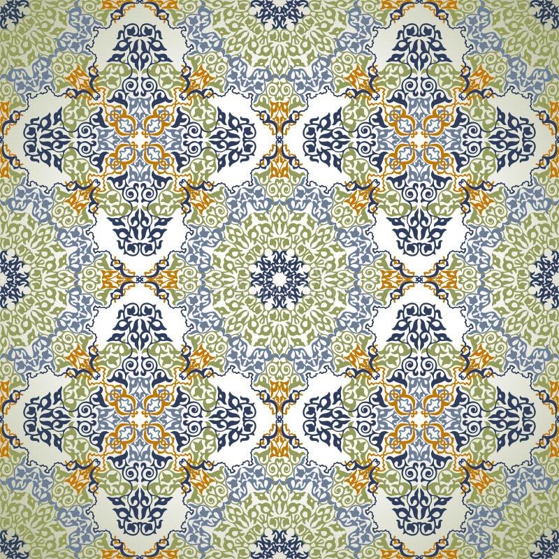 Bezszwowy wzór w mozaika etnicznym stylu. royalty ilustracja