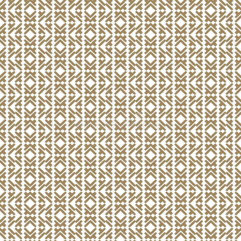 Bezszwowy wzór w tradycyjnym azjata stylu Złoty ornament z liniami ilustracji