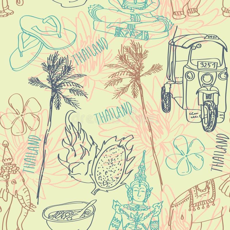 Download Bezszwowy Wzór Wektorowy Ustawiający Bangkok Z świątynią, Buddha, Słoniem I Lotosem Odizolowywającymi Na Białym Tle, Ilustracja Wektor - Ilustracja złożonej z city, egzot: 57663168
