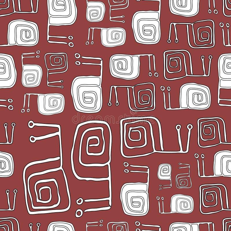 Bezszwowy wzór z Ślicznymi ślimaczkami Wektorowy tło, wzór ilustracja wektor
