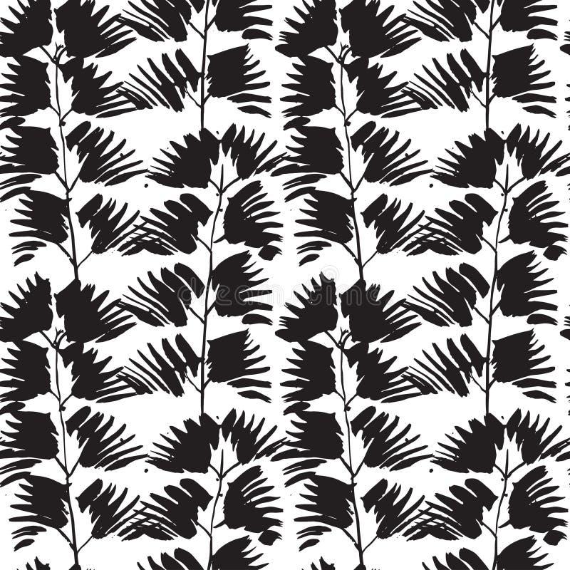 Bezszwowy wzór z atramentów drukami ilustracja wektor