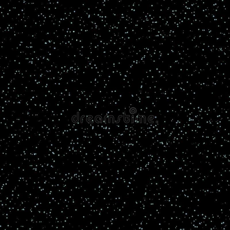 Bezszwowy wzór z bielem gra główna rolę w czarnym niebie wektor ilustracji