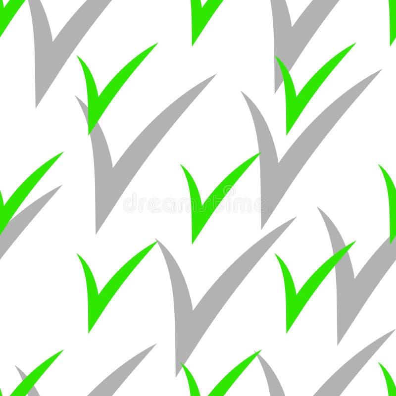 Bezszwowy wzór z czek ocenami z cieniem Zielony Kolor również zwrócić corel ilustracji wektora royalty ilustracja