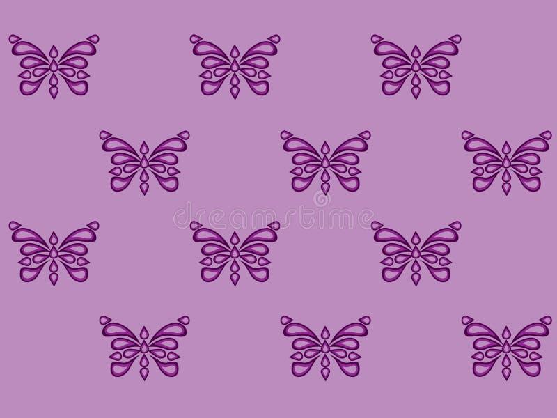 Bezszwowy wzór z dekoracyjnym motylem royalty ilustracja