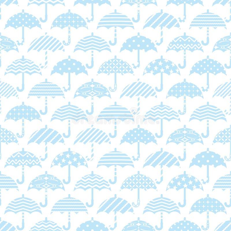 Bezszwowy wzór z dekoracyjnymi parasolami ilustracja wektor