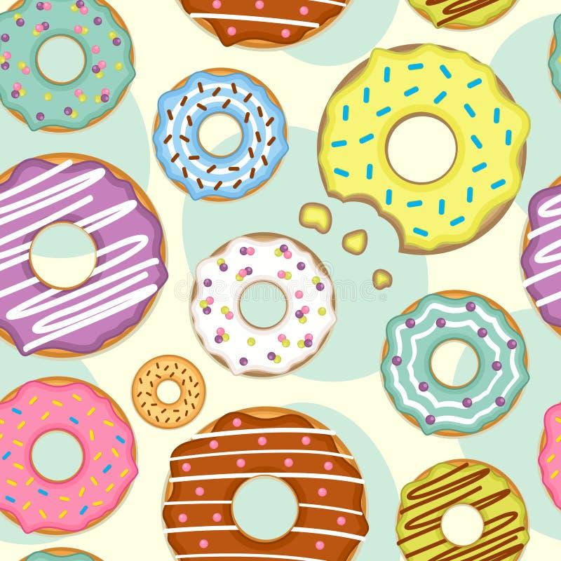 Bezszwowy wzór z donuts ilustracji