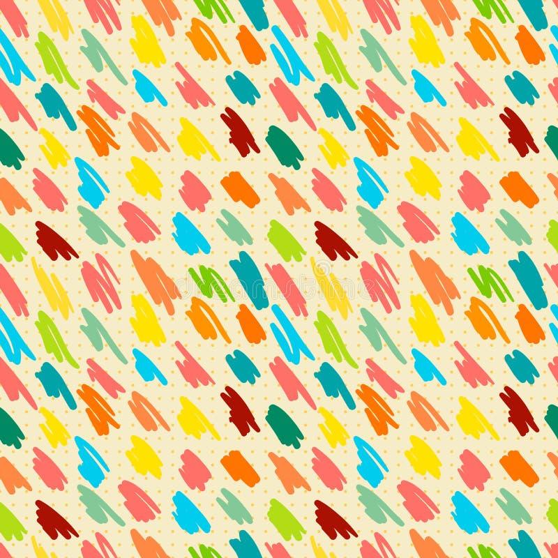 Bezszwowy wzór z doodle lampasami. ilustracja wektor
