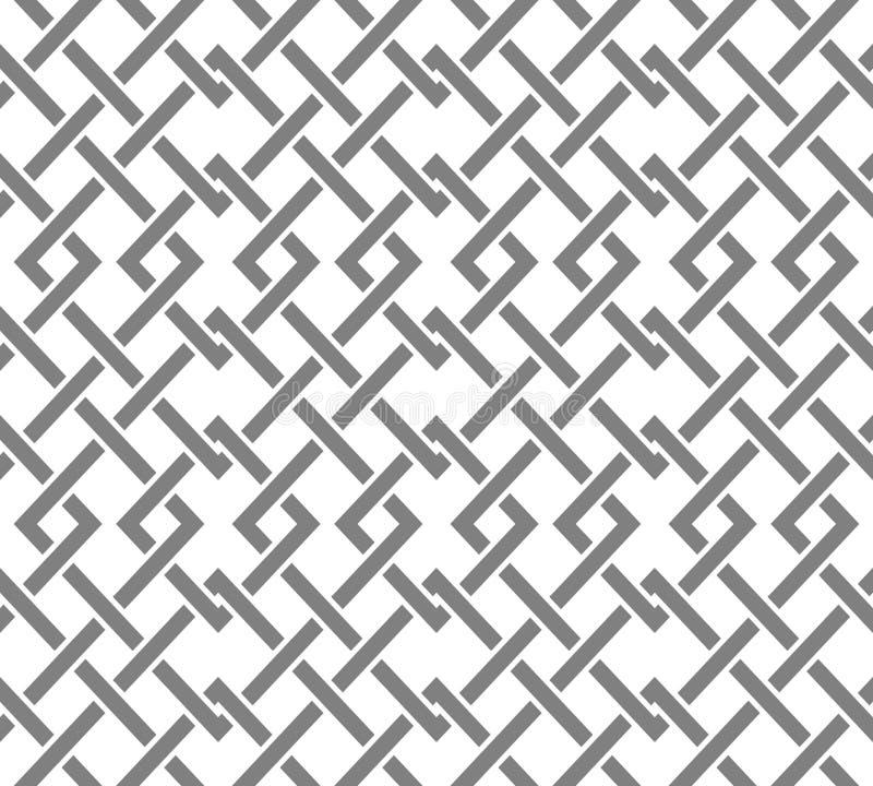 Bezszwowy wzór z dużo przecina wykłada i osacza Łańcuch geometryczni kształty royalty ilustracja