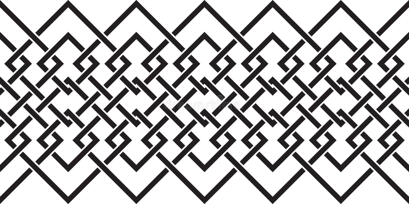 Bezszwowy wzór z dużo przecina wykłada i osacza Łańcuch geometryczni kształty ilustracji