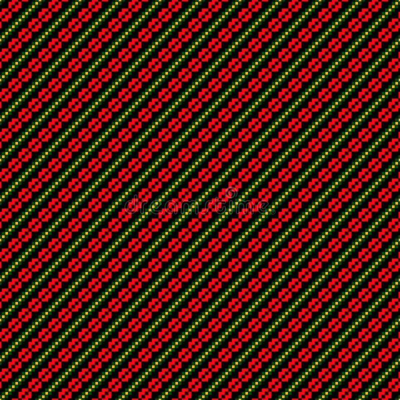 Bezszwowy wzór z etnicznym geometrycznym abstrakcjonistycznym ornamentem Przecinający ściegu slavic broderii motywy ilustracja wektor